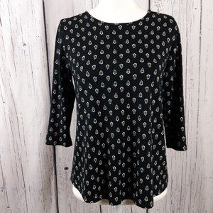 J Jill Wearever Collection Blouse Size XSmall
